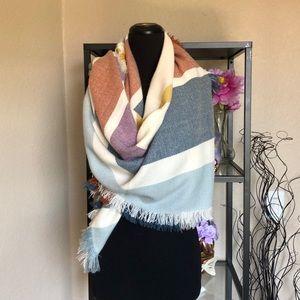 Madewell knit striped wrap scarf